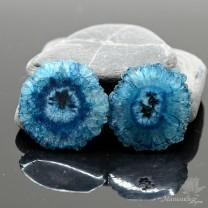 КВАЦЕВЫЙ СРЕЗ(сталактит) с отверстием, синий 34мм
