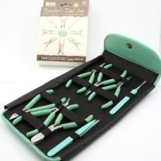 Набор из 8-ми инструментов для бижутерии в пенале BeadSmith, цвет Agua