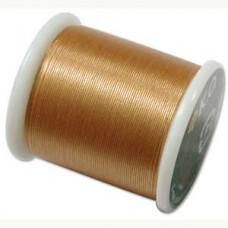 Нить для бисера K.O., катушка 50м, золотая