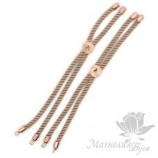 Регулируемая основа для браслета, бежевый, цвет розовое золото