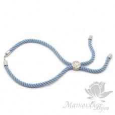 Регулируемая основа для браслета, голубой, цвет платина