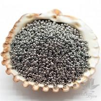 Бисер Miyuki 190 круглый 15/0, никель, 5 грамм