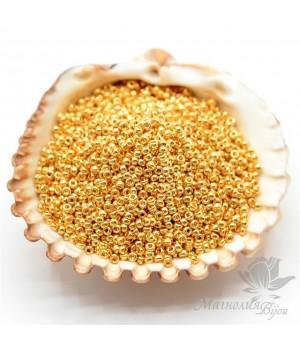 Бисер круглый 191 15/0 24K Gold Plated, 5 грамм
