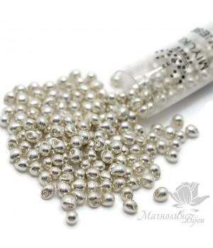 Бисер Miyuki Drops 181 Galvanized Silver, туба 25 грамм