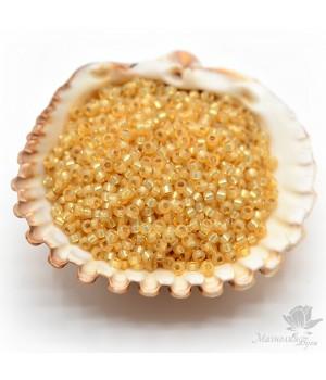 Бисер круглый 578 11/0 Light Amber, 5 грамм