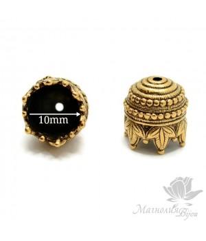 """Колпачок """"Махараджа"""", античное золото"""