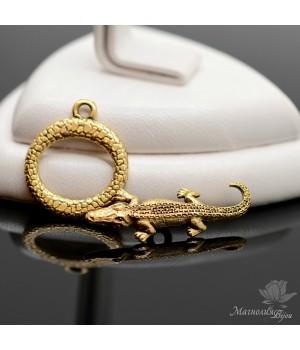 """ТОГЛ """"Крокодил"""", античное золото"""