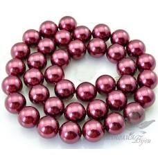 Жемчуг Shell Pearl (Майорка) бордовый 10мм
