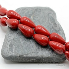 Жемчуг МАЙОРКА 10 : 18мм, капля красный