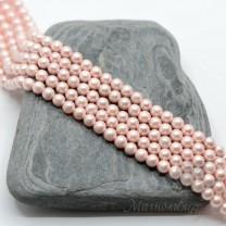ЖЕМЧУГ Майорка, розовый текстурный 4мм, 20 штук
