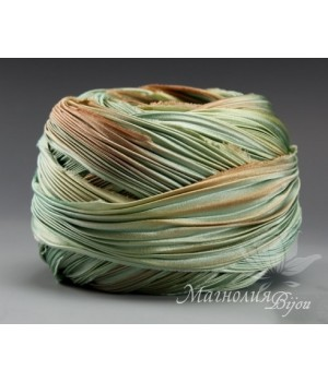 "Лента Shibori (шибори)  ""Light Verdigris"", 10 см"
