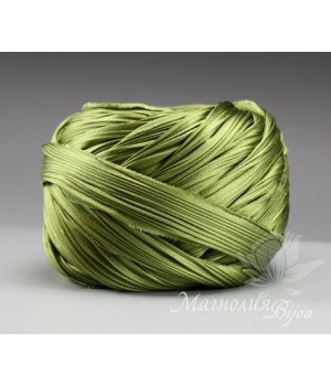 "Лента Shibori (шибори)  ""Olive Harvest"", 10 см"