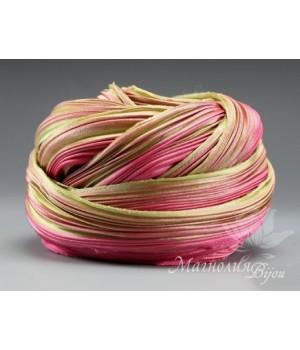 "Лента Shibori (шибори)  ""Pink Clover"", 10 см"