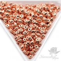"SuperDuo ""Copper Plate"", 2,5 : 5мм, 5 грамм"