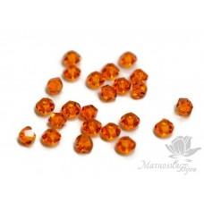 Биконусы Swarovski 3мм Tangerine 10 шт.
