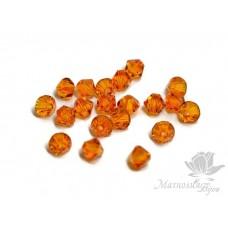 Биконусы Swarovski 4мм Tangerine 10 шт.