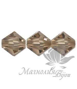 Биконусы Swarovski 4мм LIGHT COLORADO TOPAZ, 20 штук