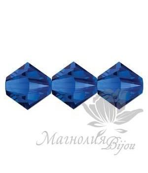 Биконусы Swarovski 4мм MAJESTIC BLUE, 20 штук