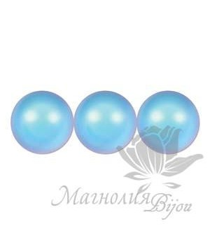 Жемчуг Swarovski 4мм Iridescent Light Blue, 20 штук