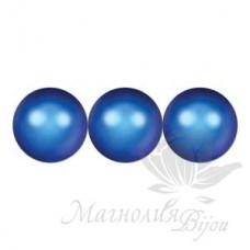 Жемчуг 6мм Iridescent Dark Blue, 5 штук