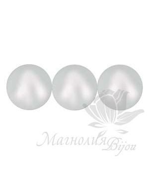 Весна/Лето 2019 Жемчуг Swarovski 6мм Iridescent Dove Grey, 10 штук