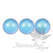 Жемчуг Swarovski 6мм Iridescent Light Blue, 10 штук