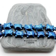 """ГЕМАТИТ """"Черепашки"""", с титановым покрытием, цвет синий, 2 штуки"""